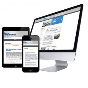 Airline Equipment eCommerce Website Example