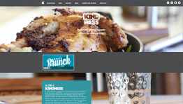 Home Page with Full Width Background Images and Scrolling Content
