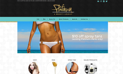 Home Page with Image Rotator and Featured Products and Services